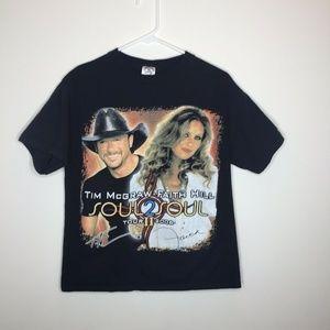 Mens M Tim McGraw & Faith Hill 2006 Tour Shirt
